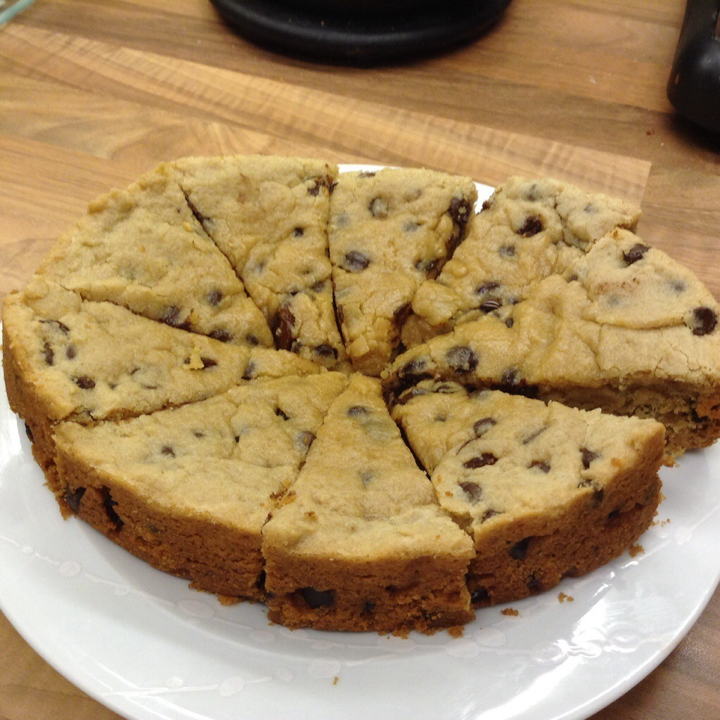 Slow Cooker Giant Chocolate Chip and Sultana Cookie