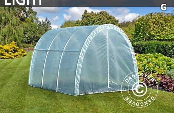 Polytunnel Växthus Light 2,2x3x1,9m, Transparent