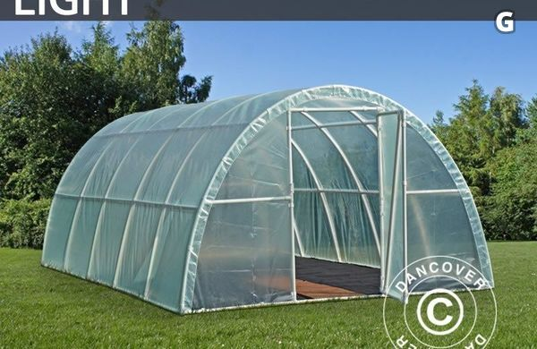 Polytunnel Växthus Light 3x10x1,9m, Transparent