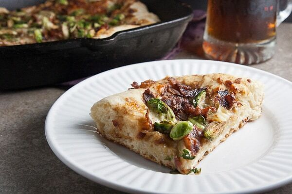 Deep Dish Pizza with Brussels Sprouts & Bacon