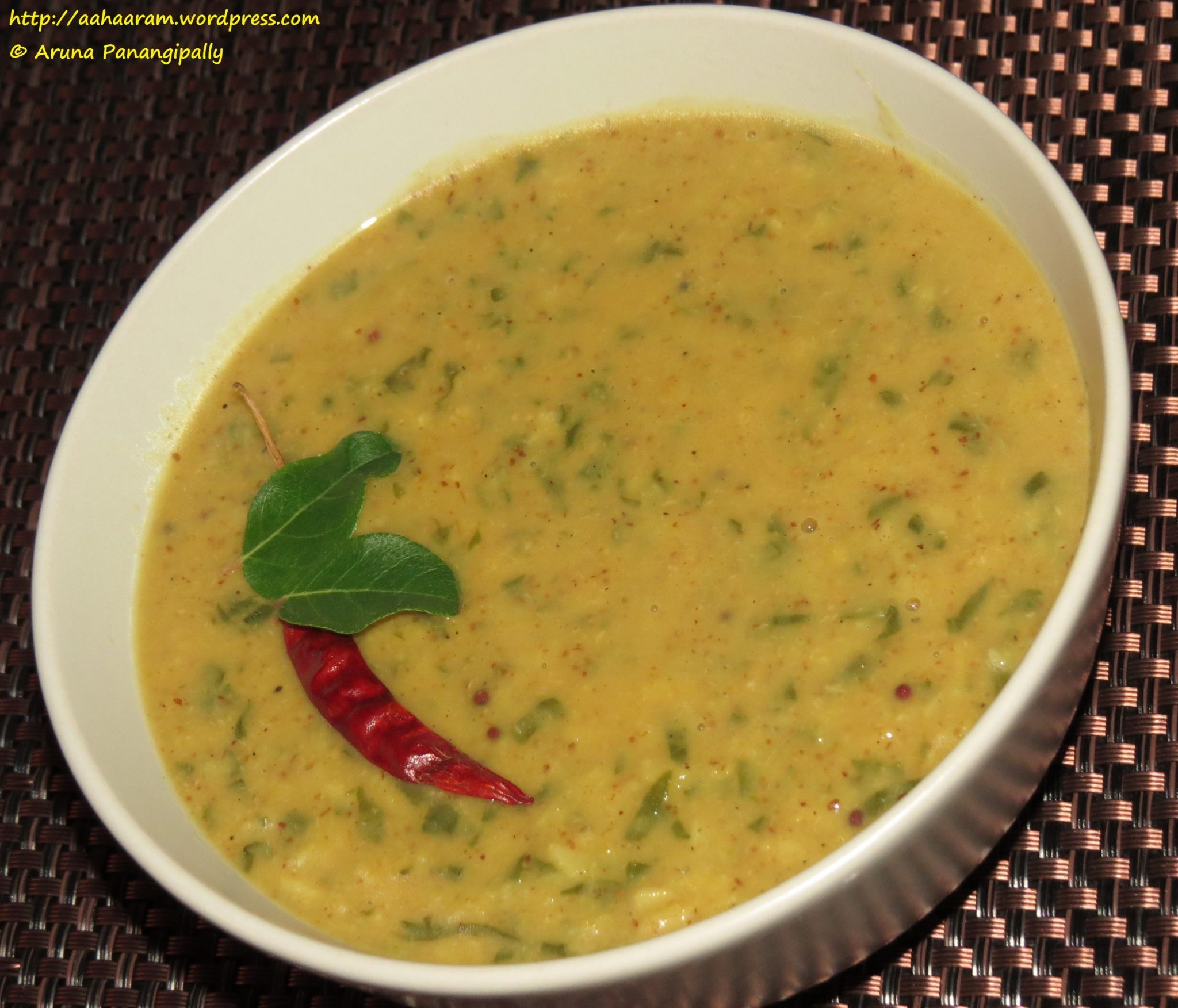Paala Koora Pappu, Palak Dal, Lentils with Spinach – 1