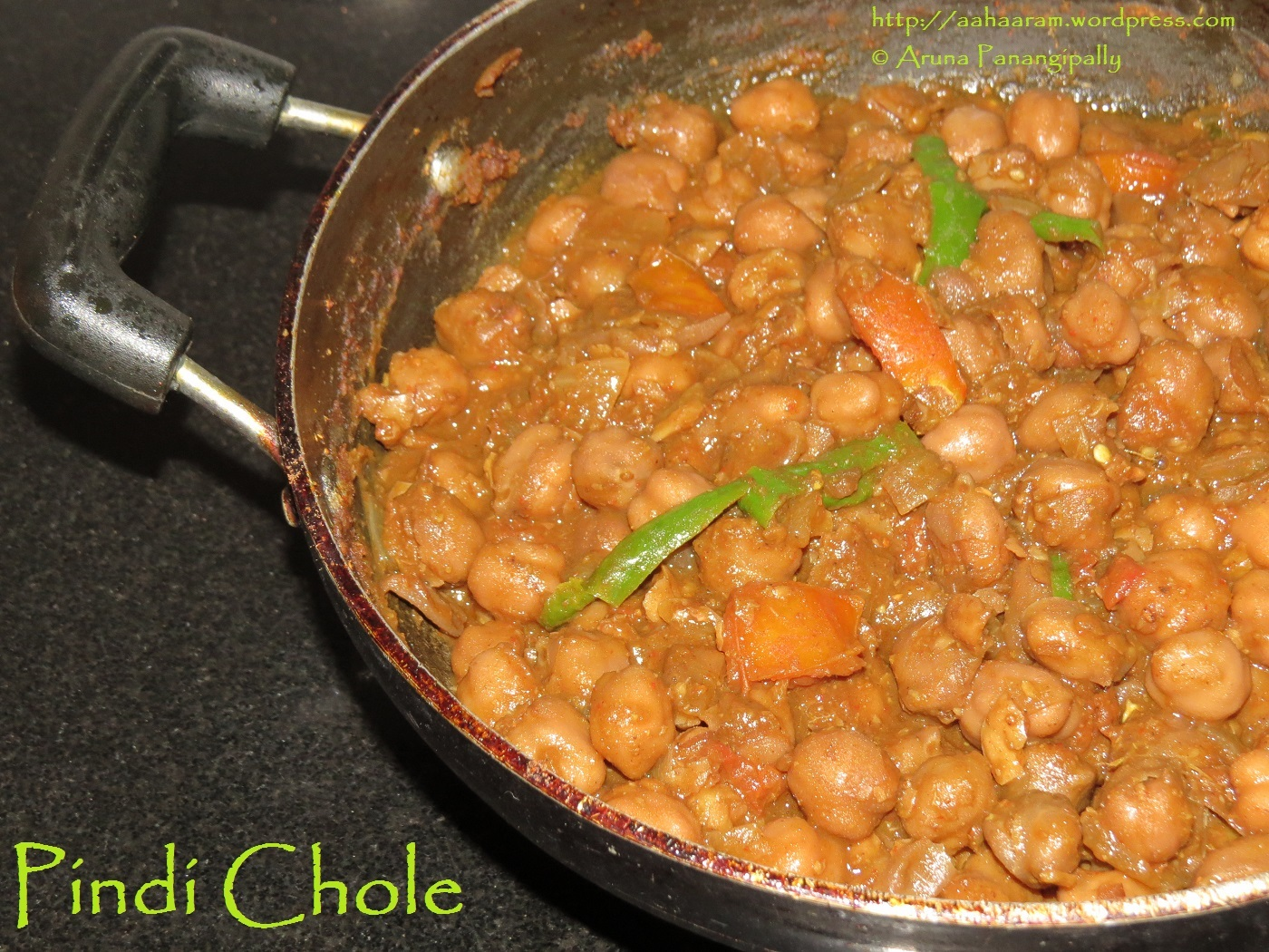 Pindi Chole or Pindi Chana (Spicy Chickpeas)