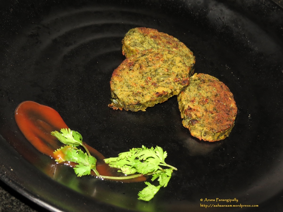 Kothambir Vadi – Coriander Fritters – A Low Oil Version