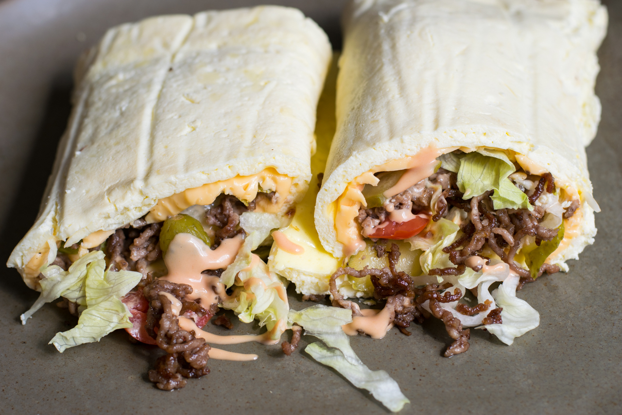 Low Carb Big Mac Wrap Rezept – Extrem Lecker und Low Carb!