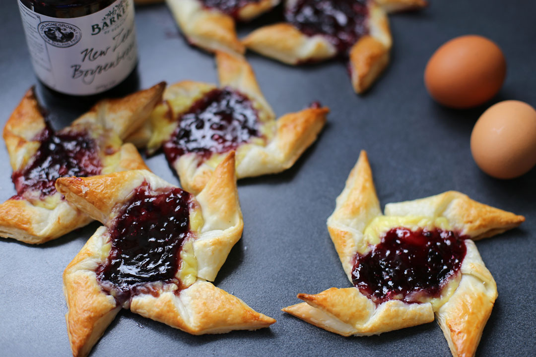 Boysenberry and Custard Danish