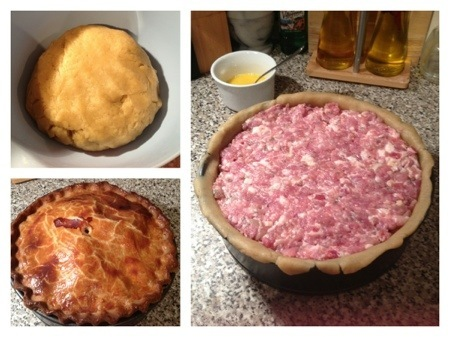yorkshire egg and bacon pie