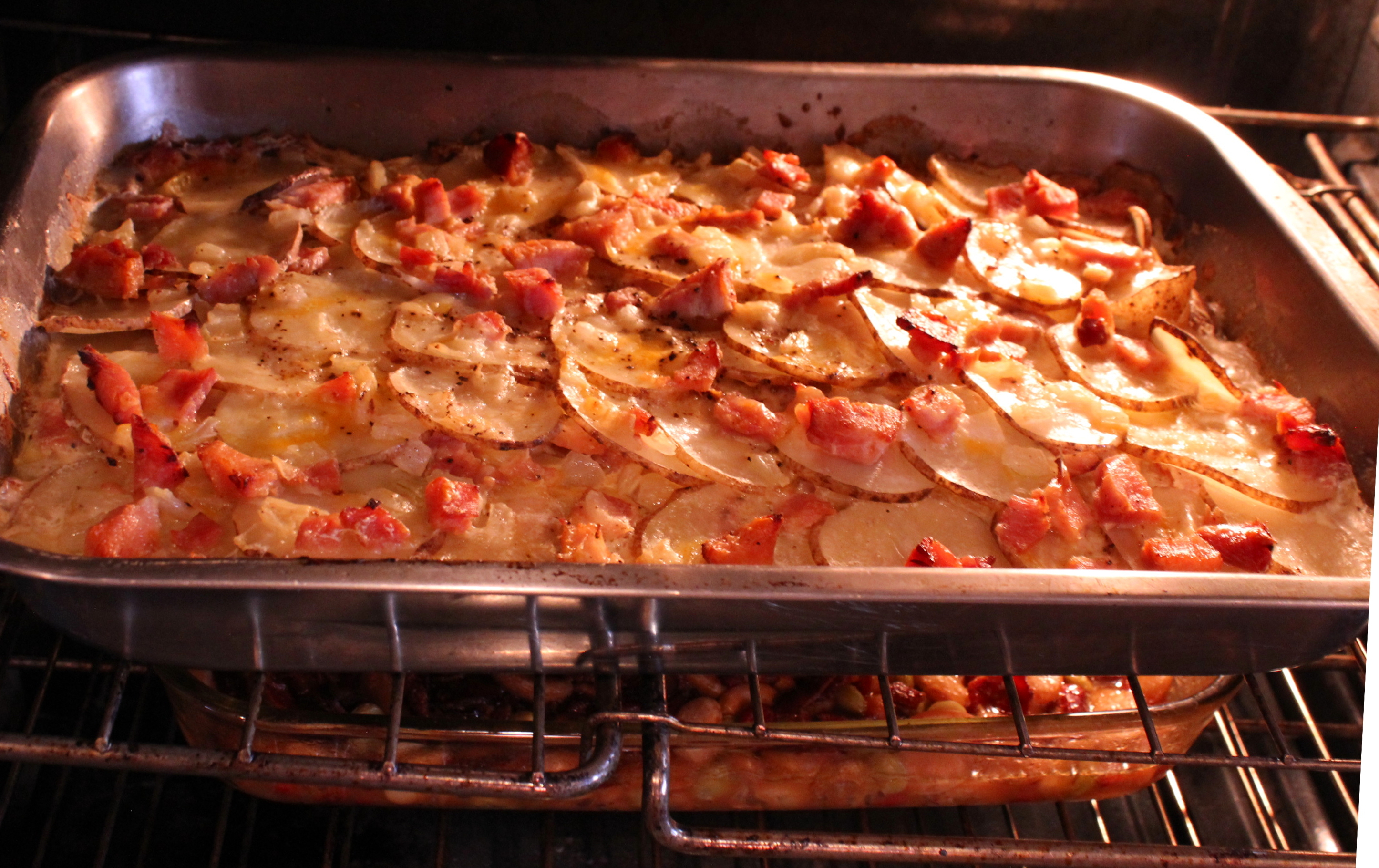 Ham and Scalloped Au Gratin Potato Casserole