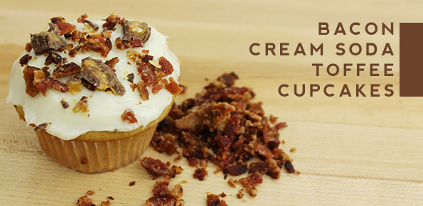 Bacon Cream Soda Toffee Cupcakes