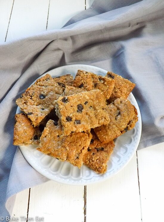 Vegan Refined Sugar Free Peanut Butter Oat Thins