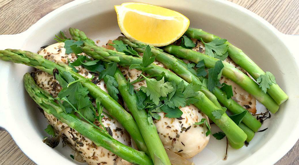 Slow Cooker Lemon and Herb Chicken with Asparagus