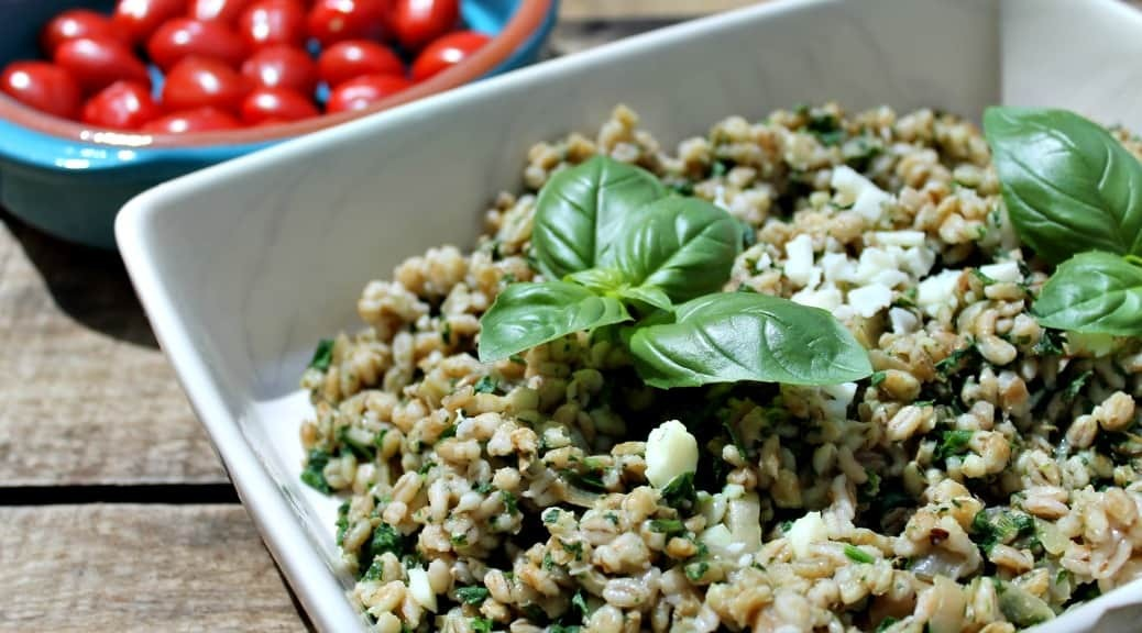 Slow Cooker Spinach and Halloumi Pearl Barley Risotto