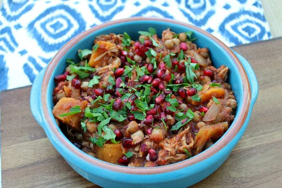 Slow Cooker Chicken and Sweet Potato Tagine