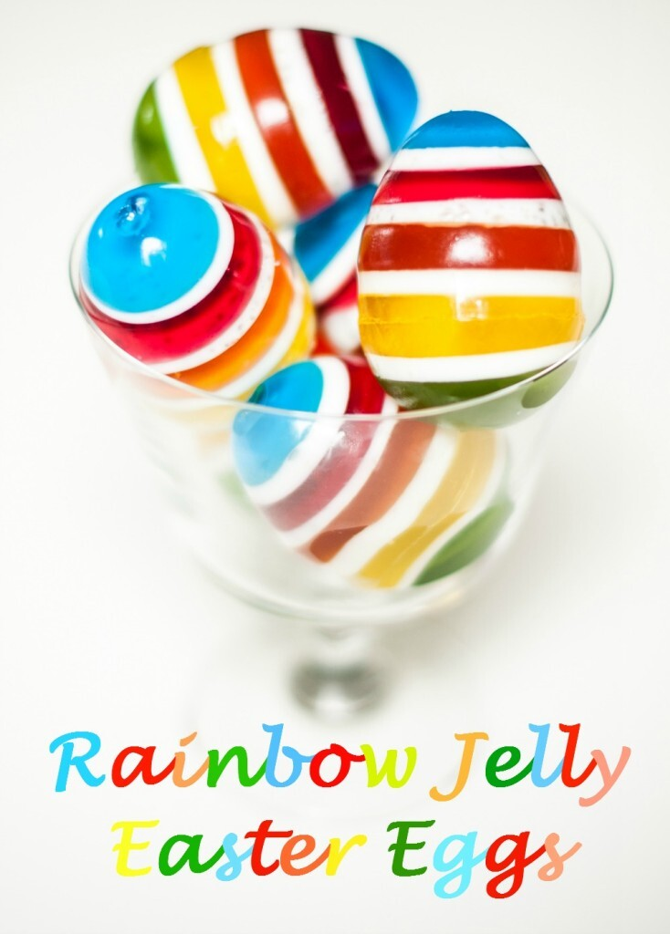 Rainbow Jelly Easter Eggs