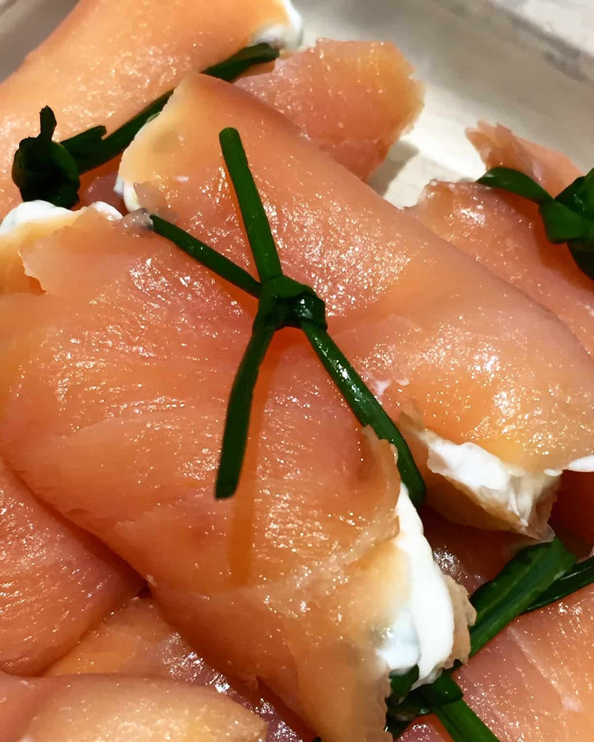 Smoked Salmon and Chive Parcels