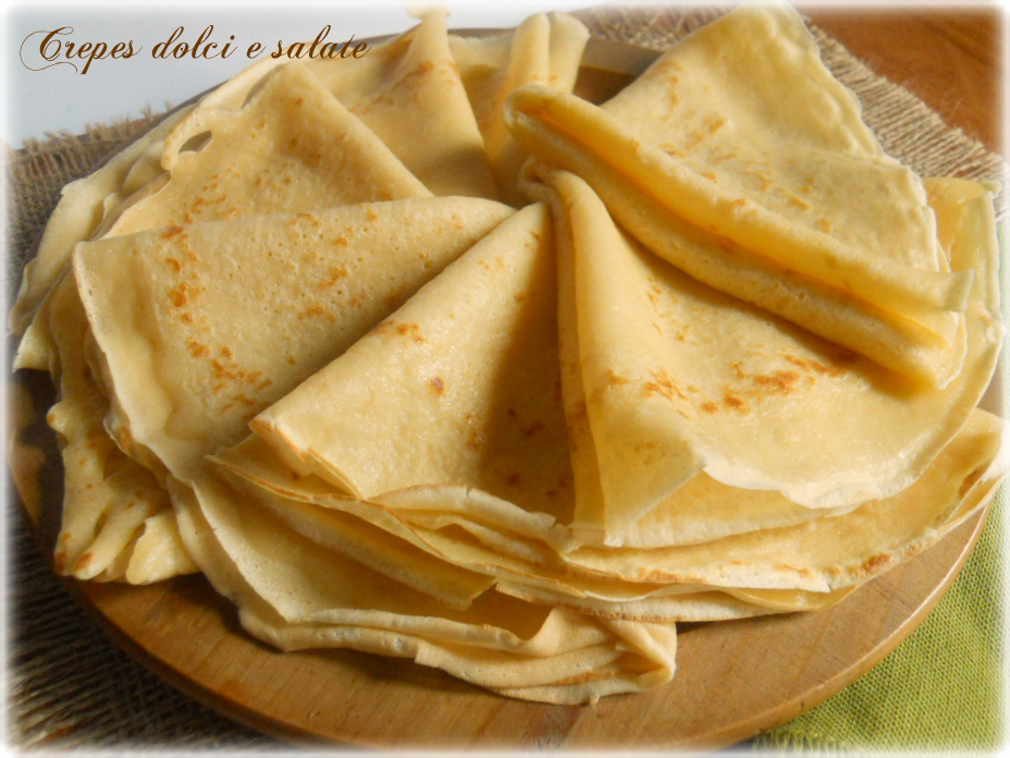 Crepes dolci e salate ricetta base