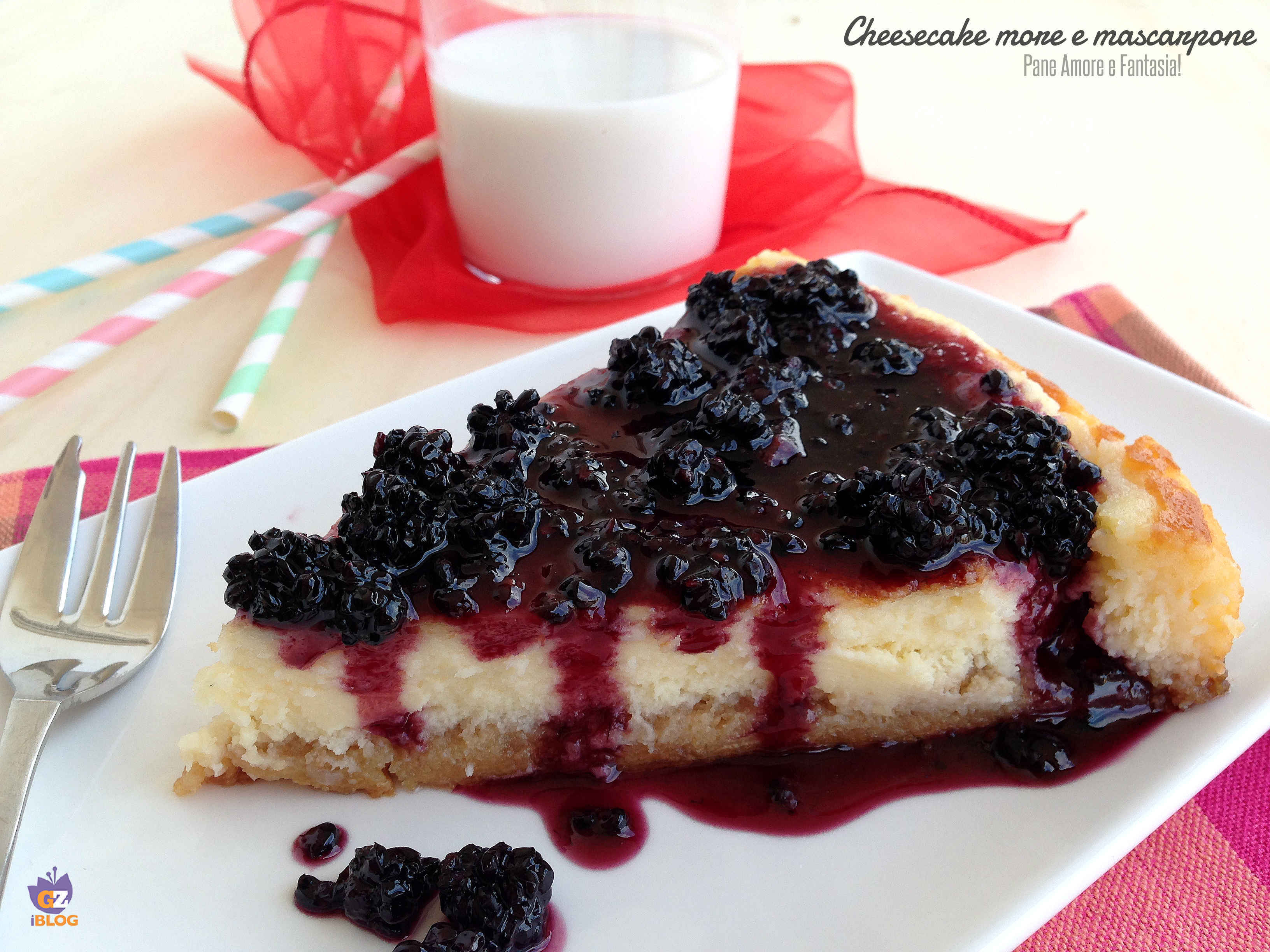 Cheesecake more e mascarpone, senza cottura