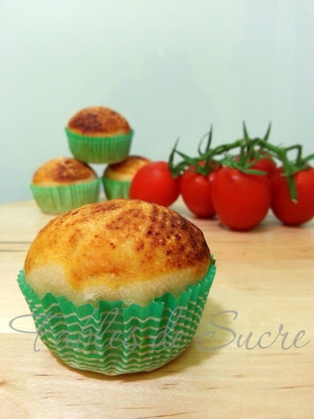 Muffin di pizza con pasta madre