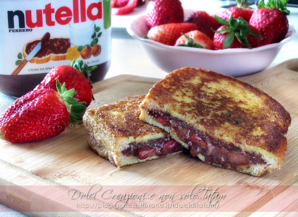 French toast fragole e nutella, con video ricetta