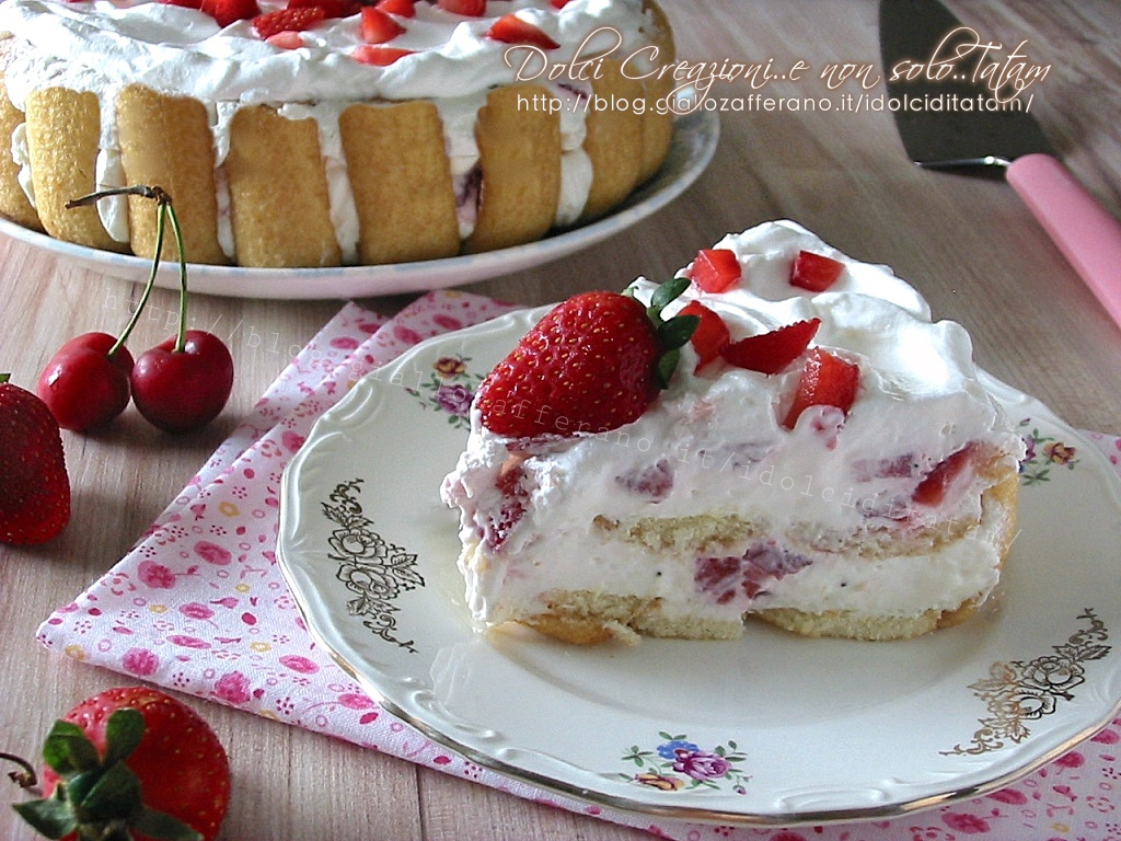 Torta fredda alle fragole, con video ricetta