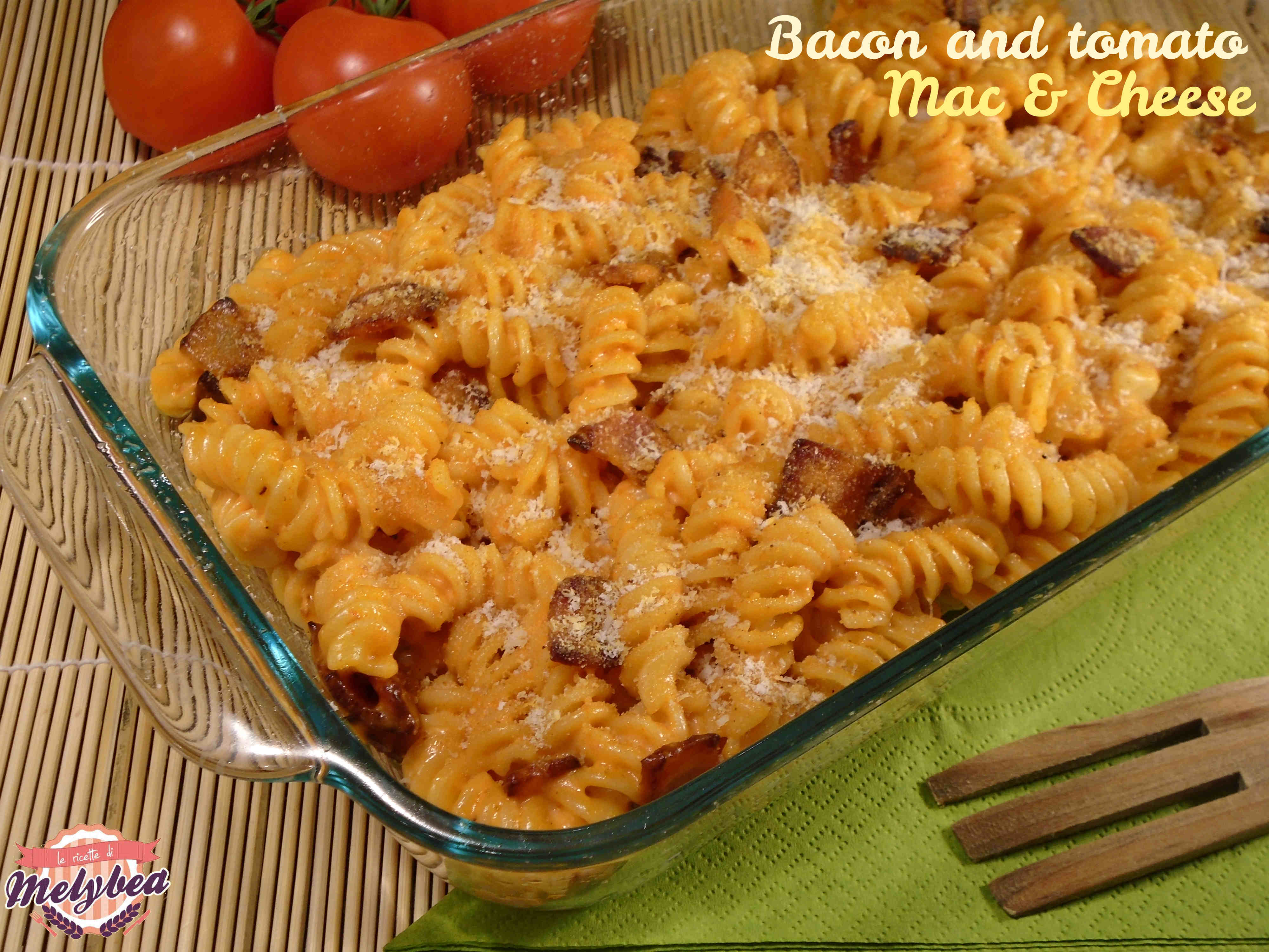 Bacon and tomato Mac and Cheese
