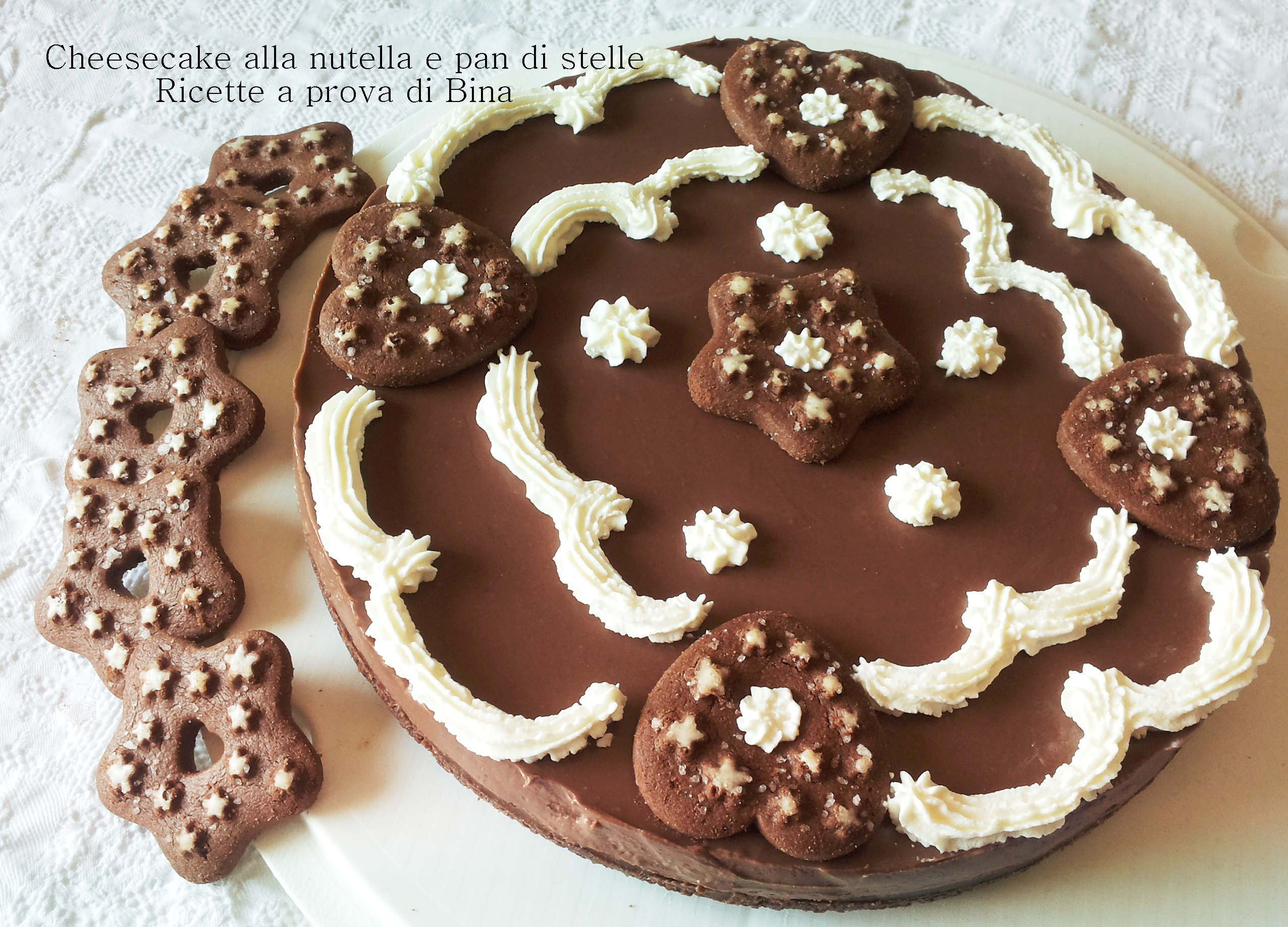 Cheesecake alla nutella e pan di stelle