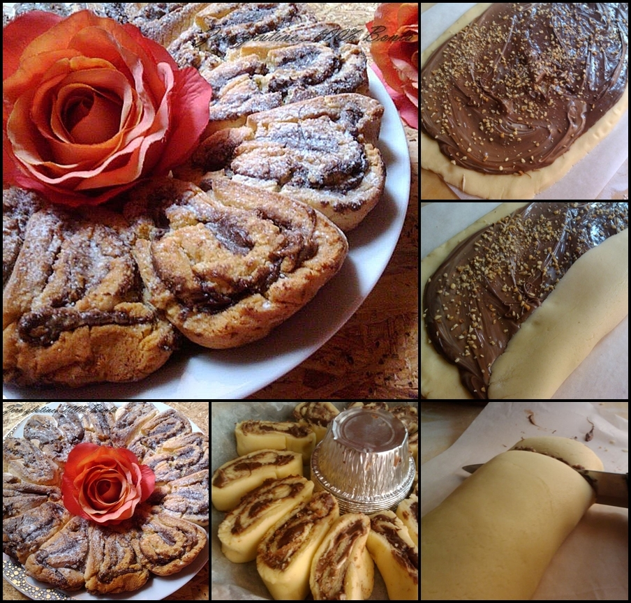 Crostata arrotolata con nutella
