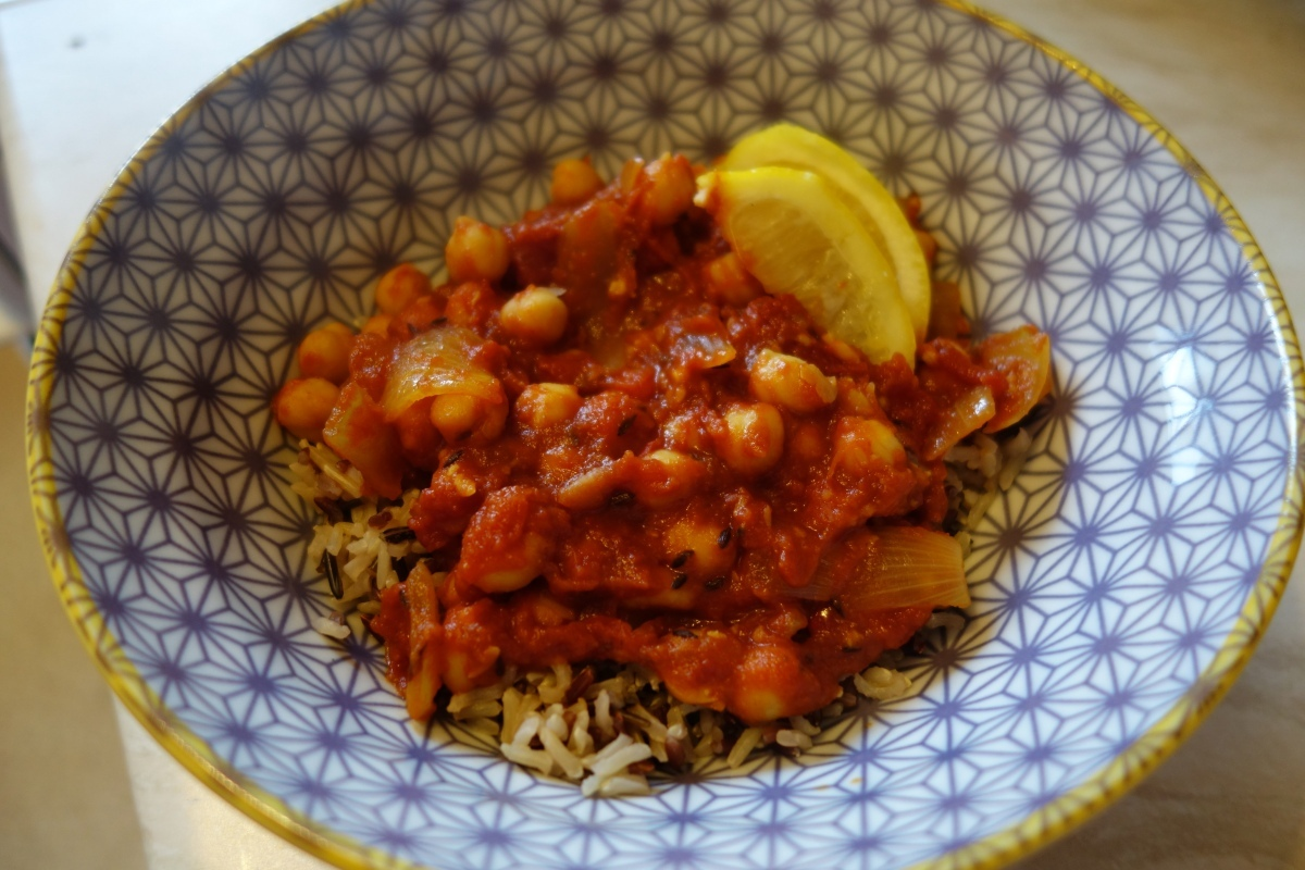 Saturday dish: Vegan Chana Masala.