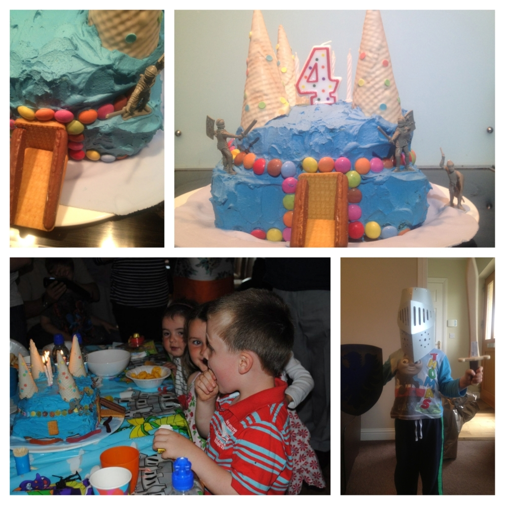 knights castle birthday cake