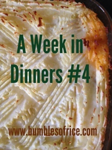 A Week's (Barefaced) Dinners #4