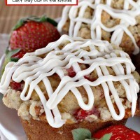 Strawberry Pecan Streusel Muffins