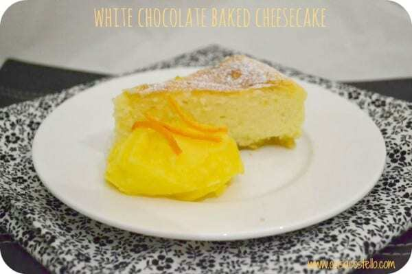 White Chocolate Cheesecake – Foodie Friday