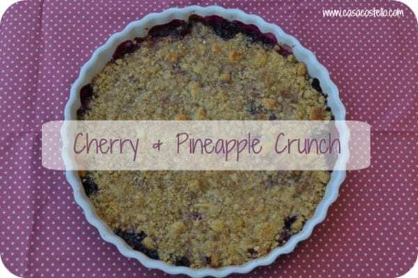 Cherry & Pineapple Crunch – #FoodieFriday