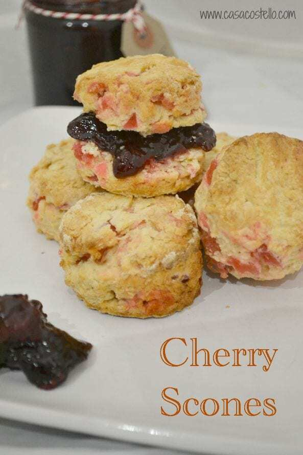 Easy Cherry Scones #Bakeoftheweek