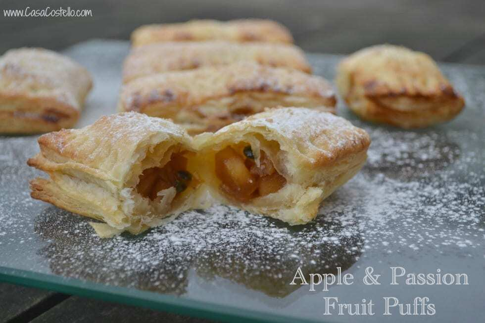Apple & Passion Fruit Puffs #BakeoftheWeek