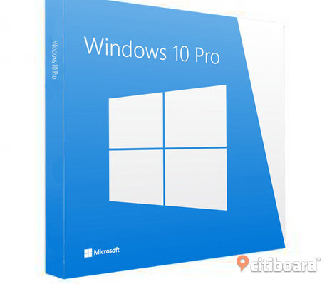 Ny Windows 10 professional 64 bit ny med licens key och installations dvd