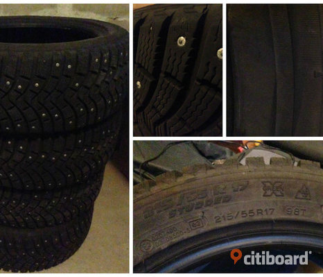 215/​55-17 MICHELIN X-ICE NORTH-2 DUBB rullat 350 mil