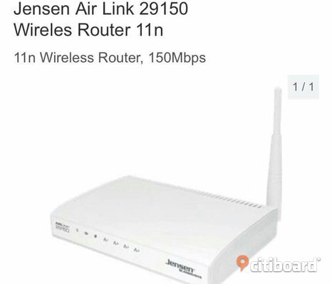 Jensen Air Link 29150 wireles router 11n
