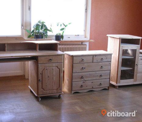 Furumöbler, skrivbord, byrå, tv-bänk