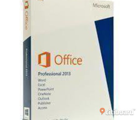 Billigt Office 2013 professional svensk DVD skiva plus aktiverings licens kod
