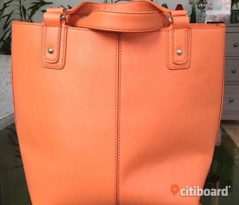 Orange tote väska
