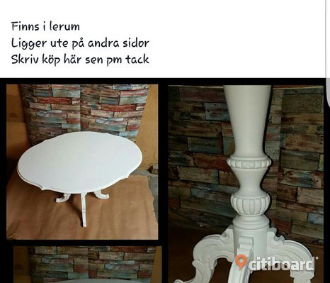 Vackert vitt gammalt bord
