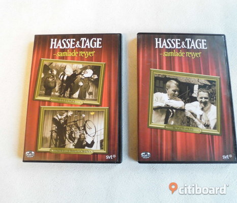 Hasse & Tage. Samlade Revyer. 2 st dvd's.