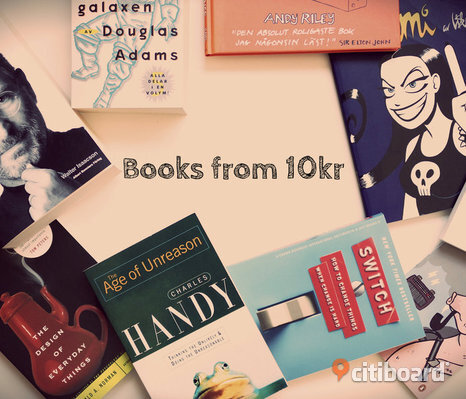 Books in Swedish, English, German from 10kr