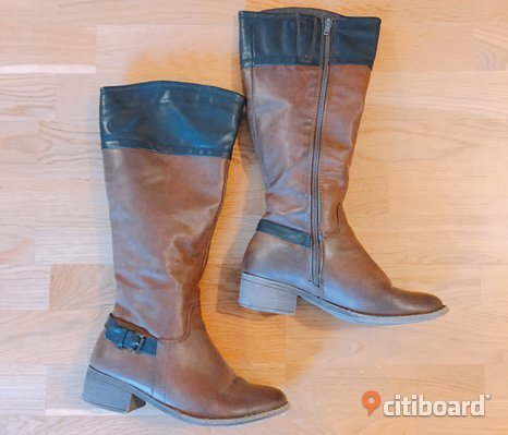 Black & brown boots size 37