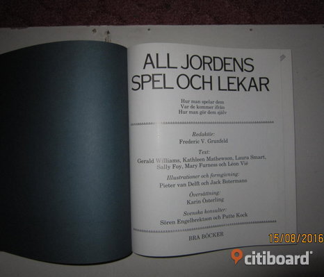 All jordens spel o lekar