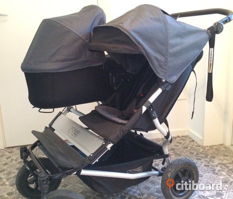 Mountain Buggy evolution duett 2.5 med liggdel