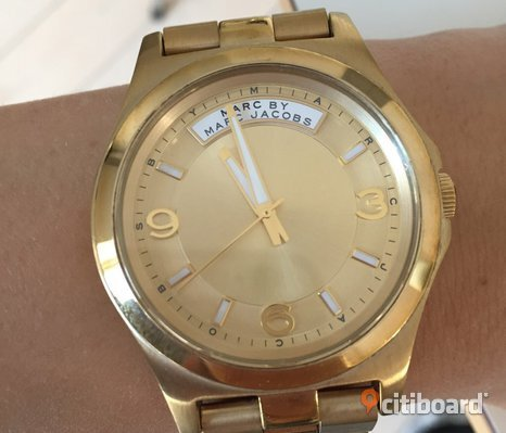 Marc Jacobs Gold Tone Stainless Steel