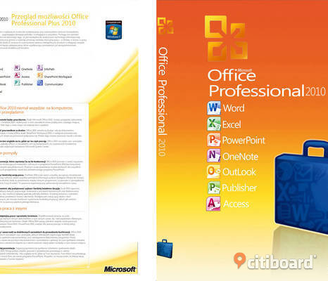 Office 2010 professional svensk DVD skiva plus aktiverings licens kod