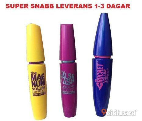HELT NY! 3 st Maybelline Mascara * the Magnum * False Lash * Rocket Volum