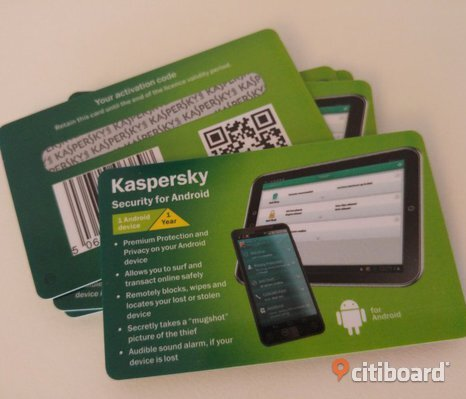 "Kaspersky Security för Android ""Card Edition"" 1 enhet/​1 år"